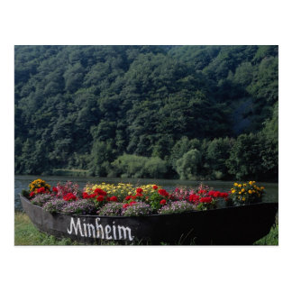 Unused boat used as flower bed, Mannheim, Germany Postcard