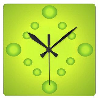 Unusual Pop Art Lime Suns Clock Green 4