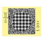 Unusual, Strange Optical Illusion Postcard