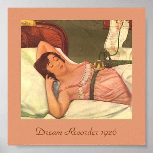 Unusual Vintage 1926 Image DREAM RECORDER Print
