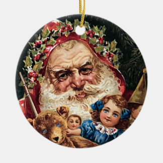Unusual Vintage Santa Toys Teddy Bear Ornament