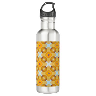 Unusual  Yellow Geometric 710 Ml Water Bottle