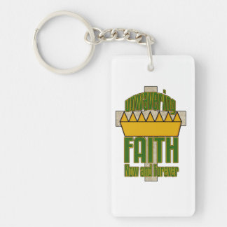 Unwavering Faith Green and Orange Key Chain