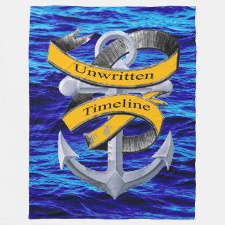 Unwritten Timeline fleece blanket