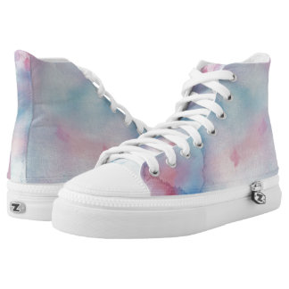 Up Above the World So High Hi Top Printed Shoes