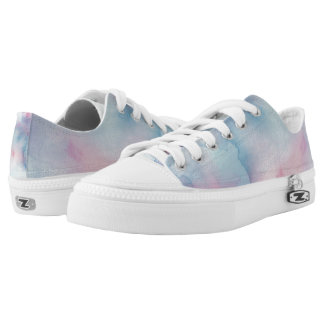 Up Above the World So High Lo Top Printed Shoes