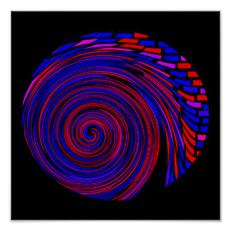Up Against the Purple Brick Whorl Poster Print