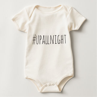 Up All Night Hashtag Baby Bodysuit