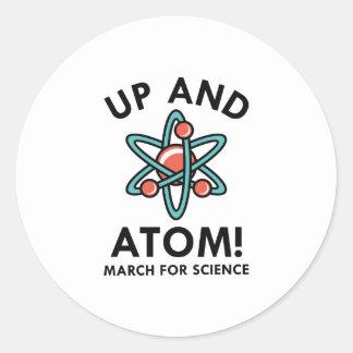 Up And Atom! Classic Round Sticker