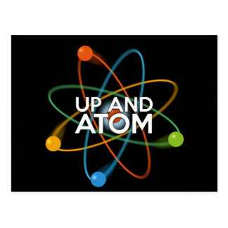 UP AND ATOM POSTCARD