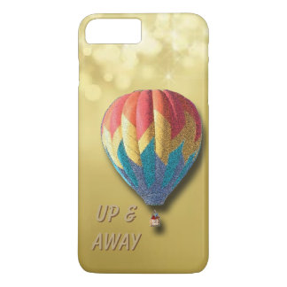 Up & away customize balloon with gold background iPhone 8 plus/7 plus case