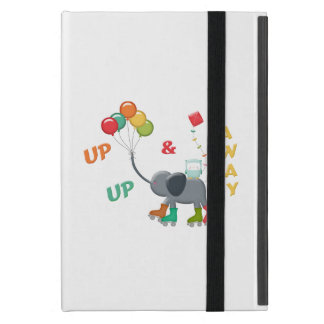Up & Away Rollerskating Elephant Balloons iPad Mini Case