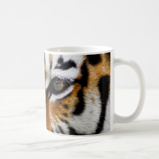 Up close eye-to-eye with a tiger coffee mug