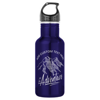 Up For Adventure Mountains White ID358 532 Ml Water Bottle