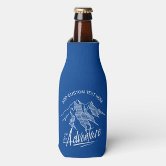 Up For Adventure Mountains White ID358 Bottle Cooler