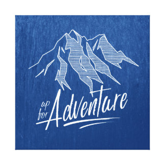 Up For Adventure Mountains White ID358 Canvas Print