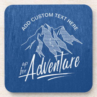 Up For Adventure Mountains White ID358 Coaster
