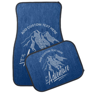 Up For Adventure Mountains White ID358 Floor Mat