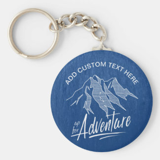 Up For Adventure Mountains White ID358 Key Ring