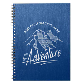 Up For Adventure Mountains White ID358 Notebook