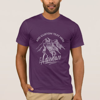 Up For Adventure Mountains White ID358 T-Shirt