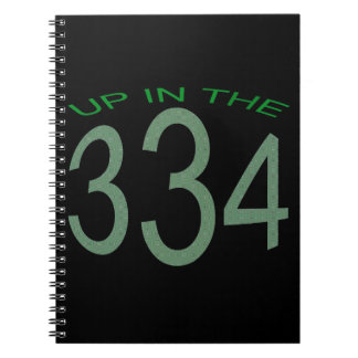 UP IN 334 (GREEN) NOTEBOOKS