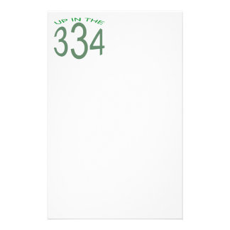 UP IN 334 (GREEN) STATIONERY