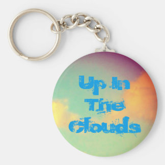Up In The Clouds Basic Round Button Key Ring