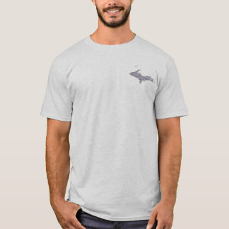 UP Michigan Yooper Mens Grey T-shirt