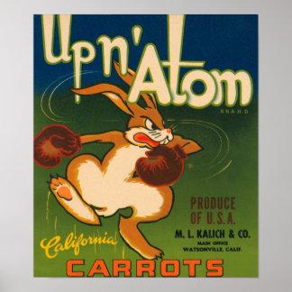 Up N Atom Vintage Crate Label Posters