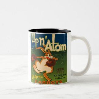 Up N Atom Vintage Crate Label Two-Tone Coffee Mug
