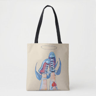 up or down?! tote bag
