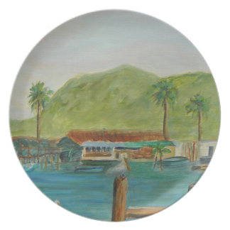 Up the Creek Melamine Plate