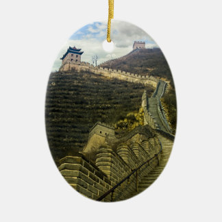Up the Great Wall Ceramic Ornament