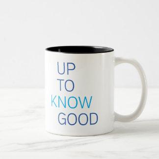 Up To Know Good Two-Tone Coffee Mug