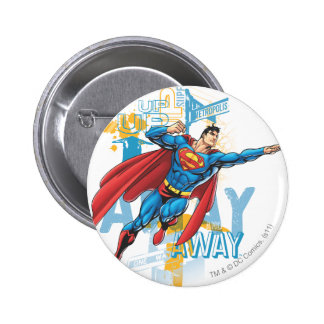 Up, Up and Away 6 Cm Round Badge