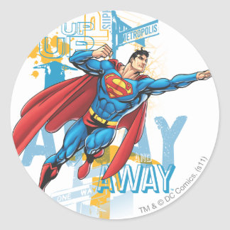 Up, Up and Away Round Sticker