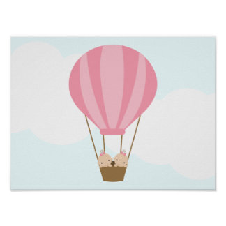 Up, Up and Away! Twin Girls Children's Wall Art