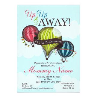 Up Up & Away Hot Air Balloon Invitation