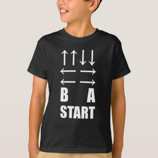 Up Up Down Down Left Right Left Right B A Start T-Shirt