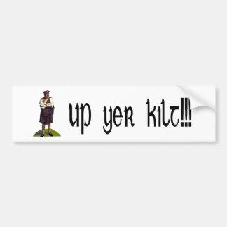 Up yer kilt bumper sticker