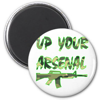 Up Your Arsenal M-4 Carbine 6 Cm Round Magnet