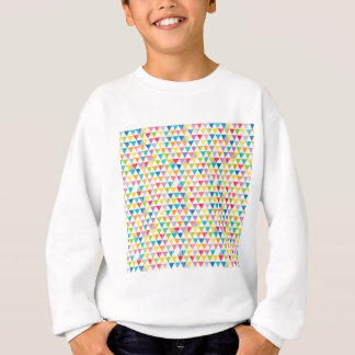 Upcycle Style Rustic Rainbow Triangles Pattern Sweatshirt