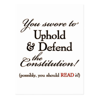 uphold and defend postcards