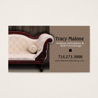 Upholstery Expert, Furniture Designer Business Card