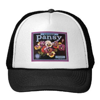 Upland Pansy VIntage Crate Label Mesh Hat