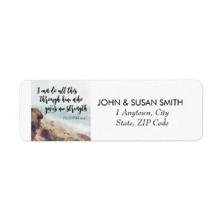 uplifting bible quote return address labels