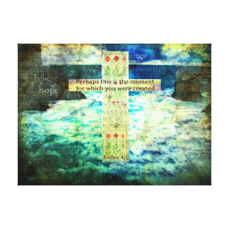 Uplifting Inspirational Bible Verse About Life Stretched Canvas Prints