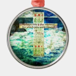 Uplifting Inspirational Bible Verse About Life Ornament