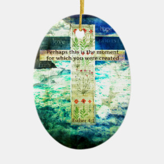 Uplifting Inspirational Bible Verse About Life Christmas Tree Ornament